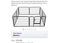 Puppy training pen / playpen 80 x 80cm panels (7 standard, 1 gated)