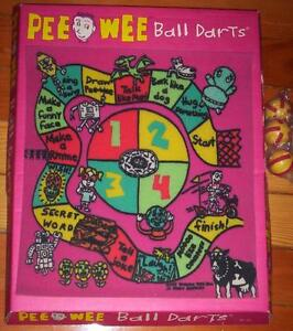 PEE WEE HERMAN BALL DARTS game - a safe vintage Playhouse toy