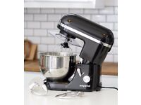 NEW Black Cake Stand Mixer 5.2L Electric Food Stand Mixer 1300W Splash Guard