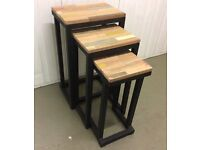 Lovely Set Of Three Side Tables, Never Been Used.