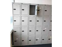 FREE DELIVERY - SilverLine Personal Lockers, 4 Door 1 Column With Combination Lock