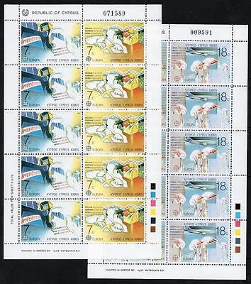 CYPRUS MNH 1988 SG718-21 Europa Sheetlets