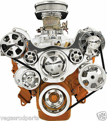 Dodge Mopar TRU TRAC CHRYSLER SERPENTINE FRONT ENGINE KIT,ALTERNATOR,A/C