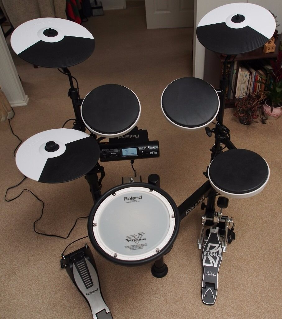 roland td 4kp portable electronic drum kit with added extras in excellent condition in. Black Bedroom Furniture Sets. Home Design Ideas