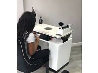 Nail technician table to rent.