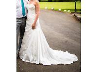 BEAUTIFUL DESIGNER WEDDING DRESS BY MAGGIE SOTTERO SAVANNAH - SIZE 10