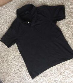 MARKS & SPENCER mens new black polo shirt size medium ! Bargain