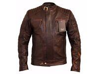 Mens Weybridge Vintage Brown Leather Jackets - Charlie LONDON