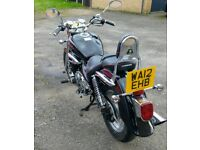 125cc Hyosung Aquila, low mileage, long MOT, 1 previous owner
