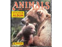 COMPLETE Vintage 1989 Animals of the World Sticker Collection Album – post or collect