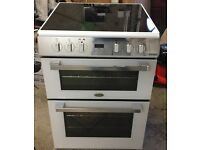 Special Edition white 60cm freestanding double oven with induction hob.