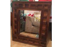 Acacia wood mirror