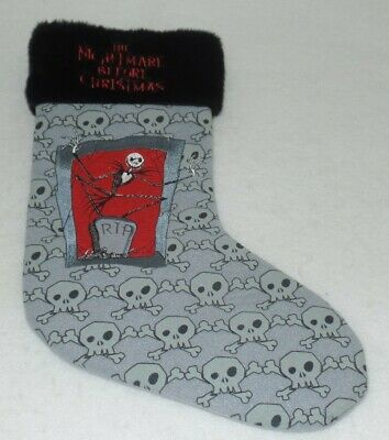 Nightmare Before Christmas Stocking - Embroidered Collectible - Jack - New