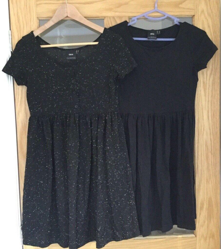 2x Asos maternity dresses size 8