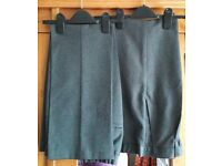 Two Pairs of Marks & Spencer Grey School Trousers age 11 Years VGC - collect from Gosport Hampshire