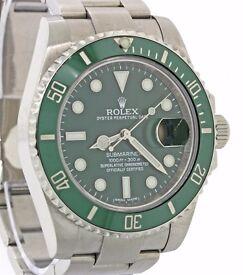 Rolex 'Hulk' Edition Submariner 116610V in Green - Great Condition