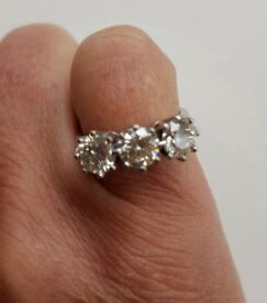 Absolutely stunning 3 Stone Diamond ring.