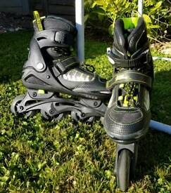 """No Fear"" Inline Skates Adjustable Size 4-6.5"