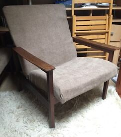 Antique 1950s Guy Rogers Chair and Sofa bed set. In very good condition.
