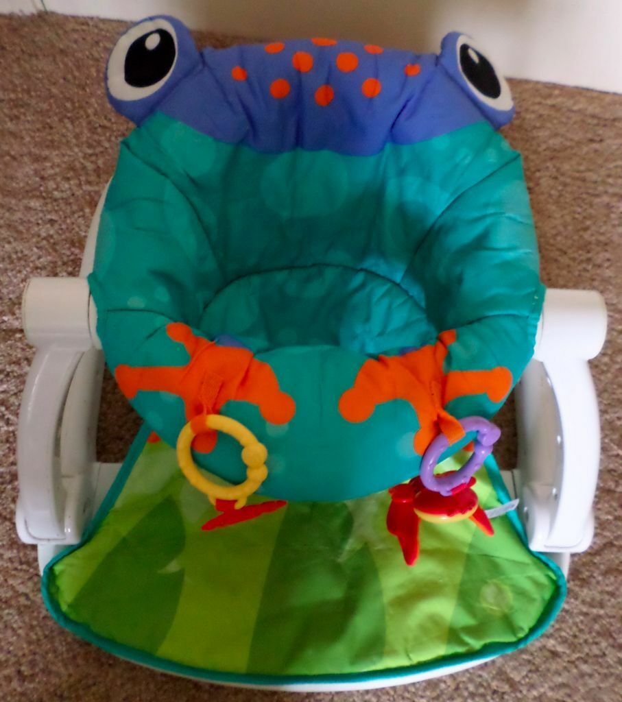 Fisher-Price - rainforest - frog - Sit Me Up Baby chair /Floor Seat & Fisher-Price - rainforest - frog - Sit Me Up Baby chair /Floor Seat ...