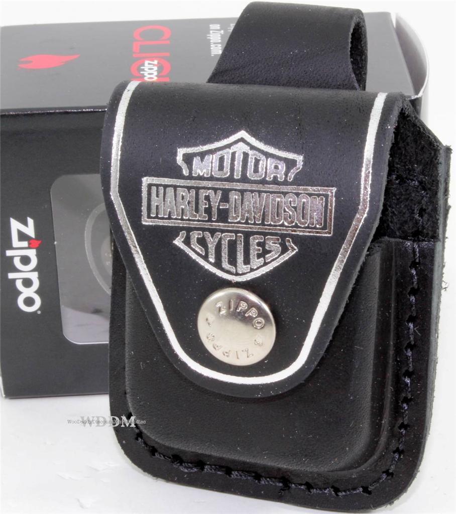 Zippo Harley-Davidson Black Lighter Pouch/Case/Holder Belt L