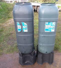 2x Slimline Water Butts