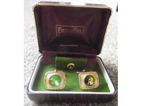 Cuff Links and Matching Tie Pin in Display case