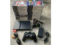 PlayStation 2 console and lots of games