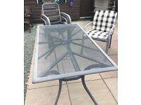 Patio Table and 5/6 Chairs