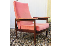 Mid century Guy Rogers chair vintage manhatten living room lounge armchair