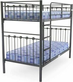 😍💕 50% OFF ON SINGLE SPLITABLE METAL BUNK-BED FRAME WITH CHOICE OF MATTRESS