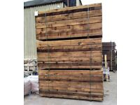 NEW CHESTNUT SLEEPERS - 2400MM X 200MM X 100MM @ £19.50 EACH.