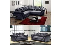 BRAND NEW SHANNON SOFA CORNERS AND 3+2 sofas in stock now and ready for delivery
