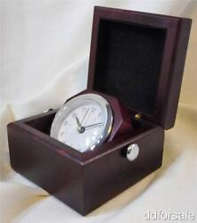 Wooden Box Desk Clock Great for Office, desk, Study etc. Battery Included!