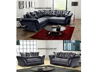 BRAND NEW SHANNON SOFA 3+2 sofas or corners in stock and now many more + bed beds ready for delivery