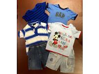 Baby boy bundle of clothes 9-12 months