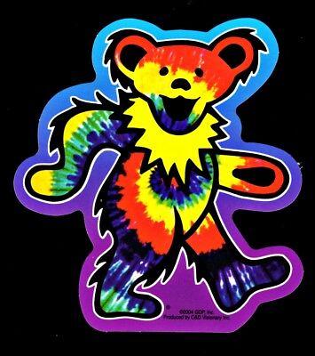Grateful Dead Tie Dye Dancing Bear Vinyl Sticker Decal Hippie Rock n Roll Yeti