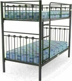 😍💕EXCLUSIVE SALE. ON SINGLE SPLITABLE METAL BUNK-BED FRAME WITH CHOICE OF MATTRESS