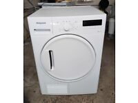 FREE DELIVERY Hotpoint large 8KG, sensor condenser tumble dryer WARRANTY