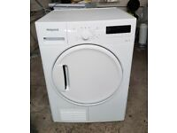 FREE DELIVERY Hotpoint large 8KG sensor condenser tumble dryer WARRANTY