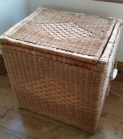 Ikea wicker storage basket chest