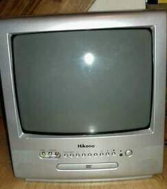 Combined TV and DVD player - compact and portable - CRT