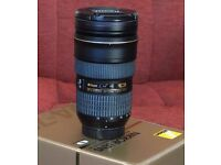 Nikon 24mm to 70mm f 2.8 AF-S ED professional zoom lens. As new.