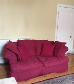 Wine red sofa bed . Free