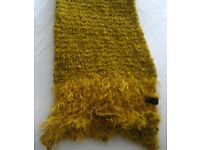 Scarf - Wool Unique Golden Texture, Made in Italy