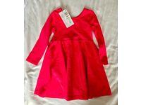 BNWT Pink cotton dress 1.5-2 years
