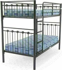 😍💕 BRAND NEW SINGLE & DOUBLE METAL BUNK-BED FRAME WITH CHOICE OF MATTRESS