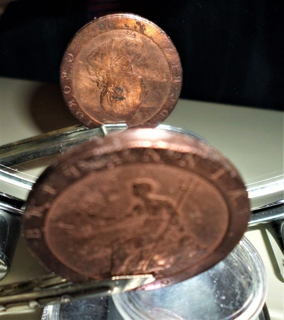 EXTREMELY COLLECTABLE 1797 GEORGE III COPPER ONE PENNY COIN - ROYAL MINT  MINTING ERRORS | in Fforestfach, Swansea | Gumtree