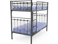 😍💕BIG BUYS ON SINGLE & DOUBLE METAL BUNK BED FRAME WITH CHOICE OF MATTRESS