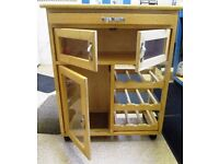 Solid Pine kitchen trolley